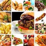 Colección de los alimentos de preparación rápida Foto de archivo