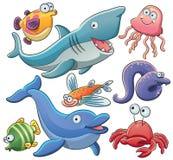 Colección de los animales de mar Imagen de archivo libre de regalías