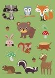 Colección 3 de los animales del bosque - ejemplo Imagen de archivo
