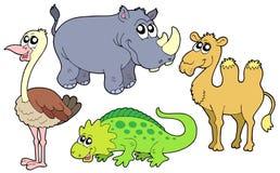 Colección de los animales del parque zoológico ilustración del vector