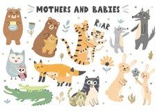 Colección de los animales de las madres y de los bebés libre illustration