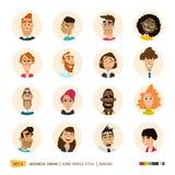 Colección de los avatares de la gente stock de ilustración
