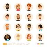 Colección de los avatares de la gente Fotografía de archivo