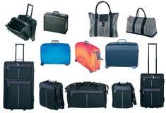 Colección de los bolsos y de las maletas del recorrido Imagenes de archivo