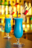 Colección de los cócteles - Hawaiian azul Fotografía de archivo libre de regalías