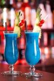 Colección de los cócteles - Hawaiian azul Imagen de archivo libre de regalías