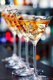 Colección de los cócteles - Martini Imagen de archivo libre de regalías