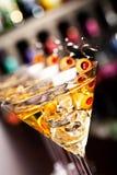 Colección de los cócteles - Martini Fotos de archivo libres de regalías