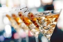 Colección de los cócteles - Martini Foto de archivo libre de regalías