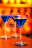 Colección de los cócteles - Martini azul Fotos de archivo