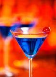 Colección de los cócteles - Martini azul Fotografía de archivo