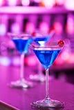 Colección de los cócteles - Martini azul Imagenes de archivo