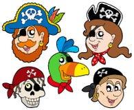 Colección de los caracteres del pirata Fotografía de archivo