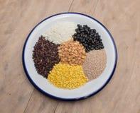 Colección de los cereales Fotografía de archivo