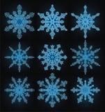 Colección de los copos de nieve Fotos de archivo libres de regalías