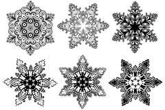 Colección de los copos de nieve Foto de archivo libre de regalías