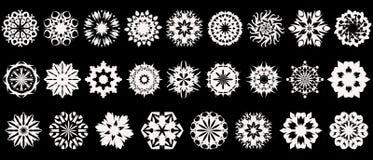Colección de los copos de nieve Fotografía de archivo libre de regalías