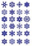Colección de los copos de nieve Fotos de archivo