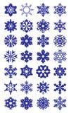 Colección de los copos de nieve Imagen de archivo libre de regalías