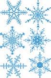 Colección de los copos de nieve Imágenes de archivo libres de regalías