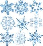 Colección de los copos de nieve Foto de archivo