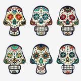Colección de los cráneos del azúcar Imagenes de archivo