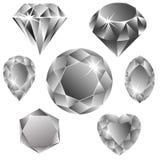 Colección de los diamantes Imagen de archivo libre de regalías