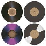 Colección de los discos de vinilo Imagen de archivo