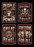 Colección de los diseños de la camiseta de la propaganda del vintage stock de ilustración