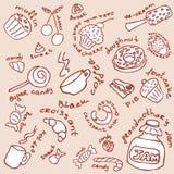 Colección de los dulces Stock de ilustración