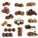 Colección de los dulces del chocolate Fotos de archivo libres de regalías