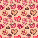 Colección de los ejemplos del día de tarjeta del día de San Valentín Imagenes de archivo