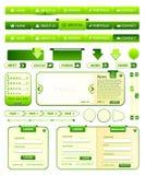 Colección de los elementos de Webdesign Foto de archivo