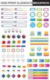 Colección de los elementos del diseño Fotografía de archivo libre de regalías