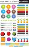 Colección de los elementos del diseño Imágenes de archivo libres de regalías
