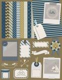 Colección de los elementos del diseño con el zorro lindo del juguete Foto de archivo libre de regalías