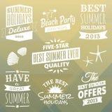 Colección de los elementos del diseño del verano Fotos de archivo