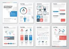 Colección de los elementos del vector del folleto de Infographic para el negocio Imagen de archivo