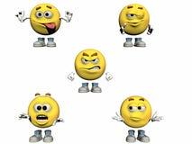 Colección de los Emoticons 3d Imagen de archivo libre de regalías
