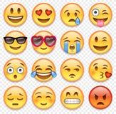 Colección de los emoticons del vector Fotografía de archivo