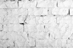 Colección de los fondos - pared de ladrillo blanca Fotografía de archivo