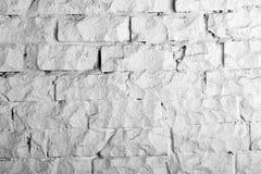 Colección de los fondos - pared de ladrillo blanca Imagen de archivo