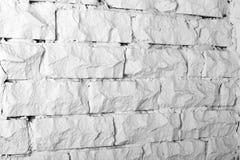 Colección de los fondos - pared de ladrillo blanca Foto de archivo