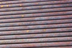 Colección de los fondos - textura de tubos oxidados Fotografía de archivo libre de regalías