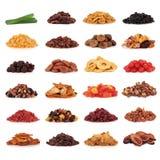 Colección de los frutos secos Imagen de archivo libre de regalías