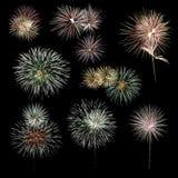Colección de los fuegos artificiales fotografía de archivo libre de regalías