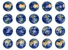 Colección de los globos de la tierra Fotos de archivo libres de regalías