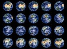 Colección de los globos de la tierra Imagen de archivo