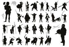 Colección de los guerreros Vector libre illustration