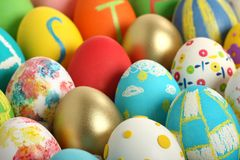 Colección de los huevos de Pascua Imágenes de archivo libres de regalías
